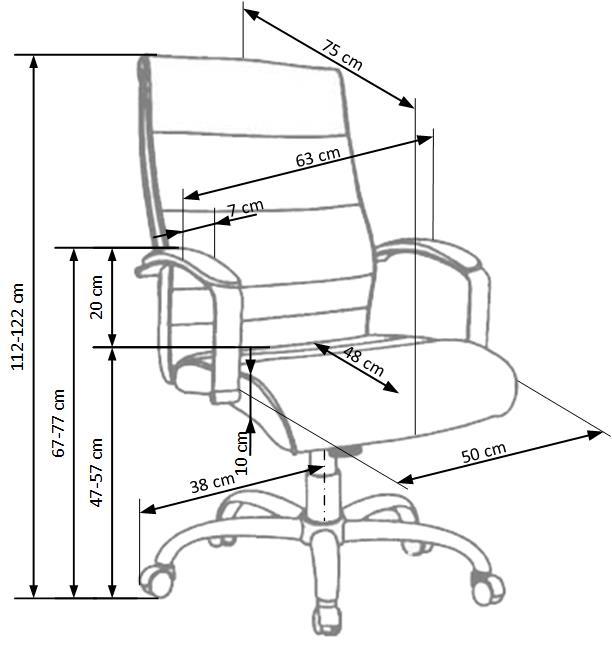 TEKSAS kancelárska stolička čierna