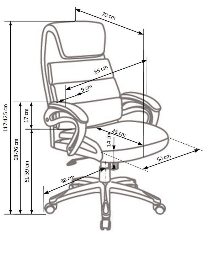 SIDNEY kancelárska stolička čierna