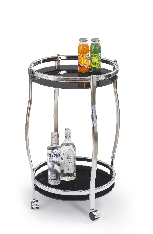 BAR8 stolík barový čierny