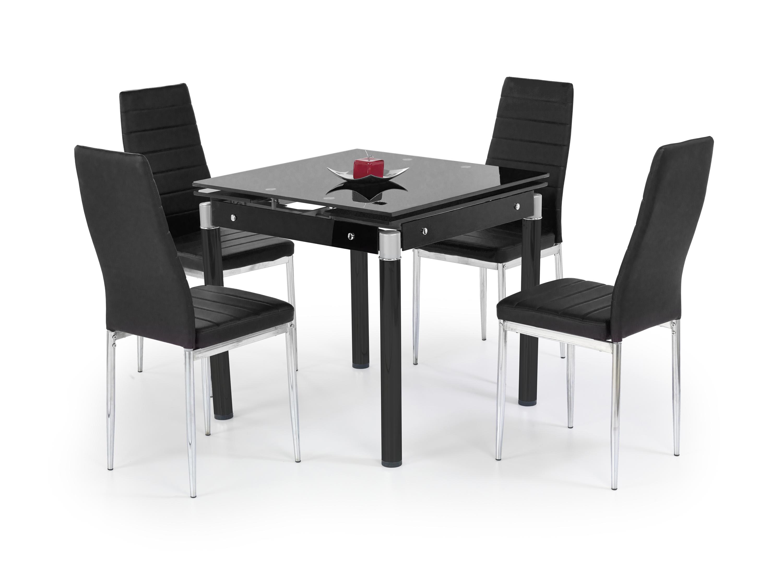 KENT stôl rozkladací čierny, ocel zafarbená