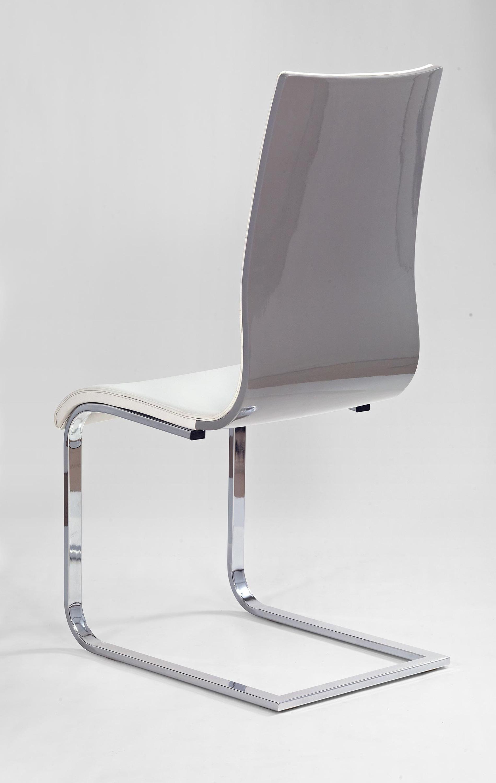 K104 stolička šeda/biela ekokoža