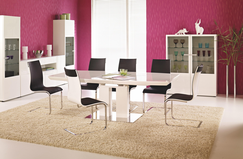 LORENZO rozkladací stôl biela