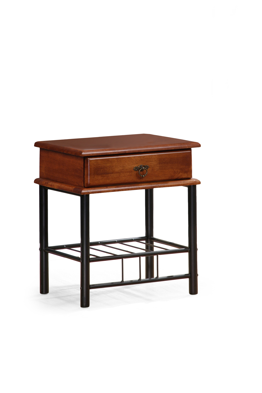 FIONA nočný stolík ant čerešňa/čierna