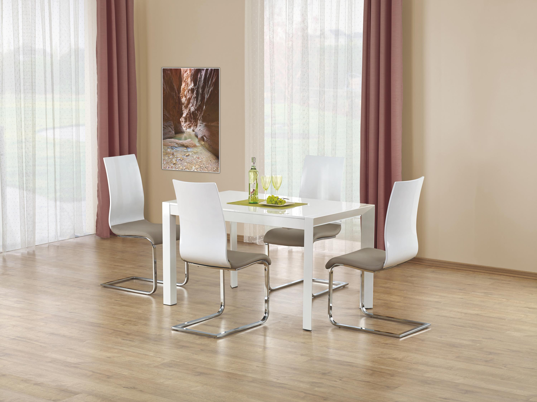 STANFORD rozkladací stôl biela