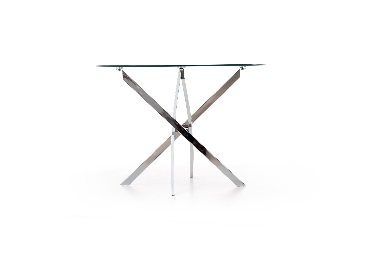 RAYMOND stôl bezfarebný/chróm