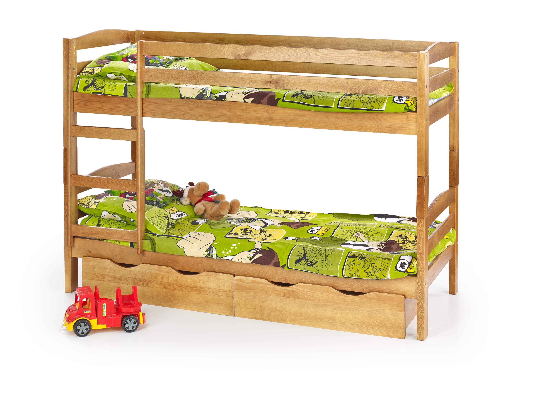 SAM poschodová posteľ s matracom jelša