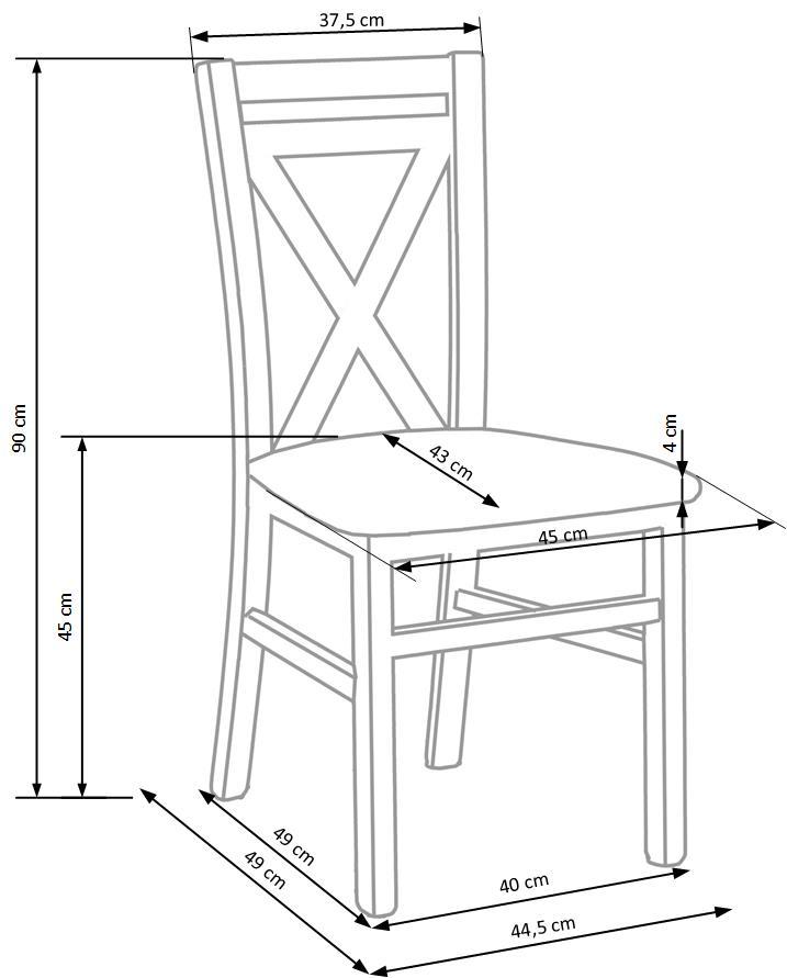DARIUSZ 2 stolička tmavo orech