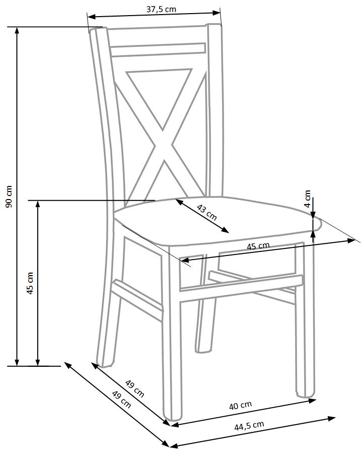 DARIUSZ 2 stolička dub sonoma
