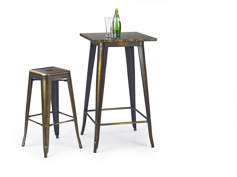 SB8 stôl barový kovový yellow cooper