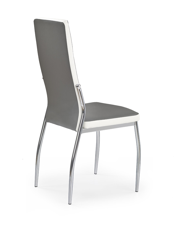 K210 stolička šedá / biela