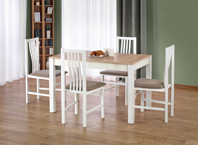 KSAWERY stôl farba dub sonoma / biela