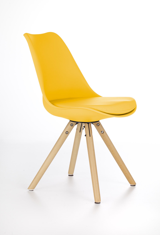 K201 jedálenská stolička žltá