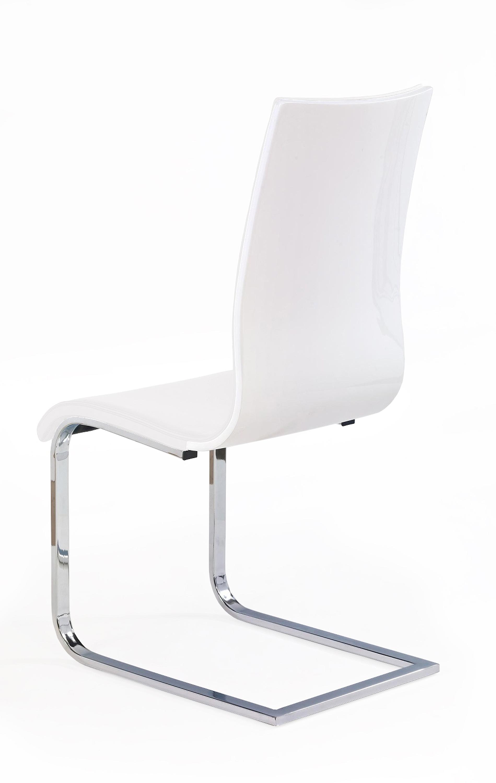K104 stolička biela/biela ekokoža