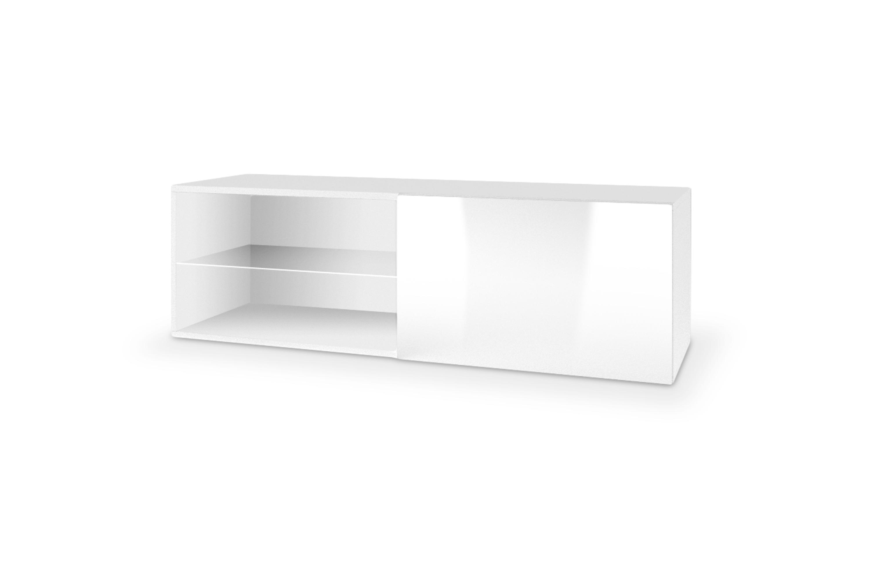 LIVO RTV-120W závesná TV- komoda, biela