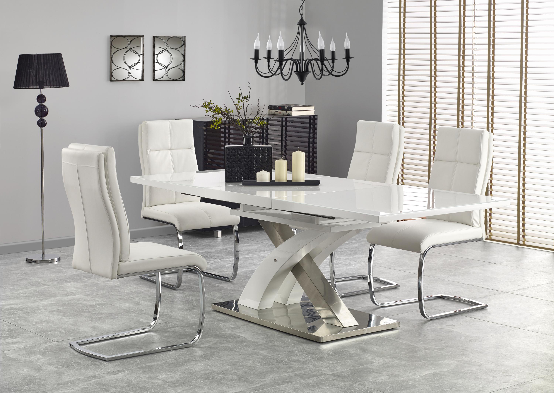 SANDOR 2 stôl, extra biela
