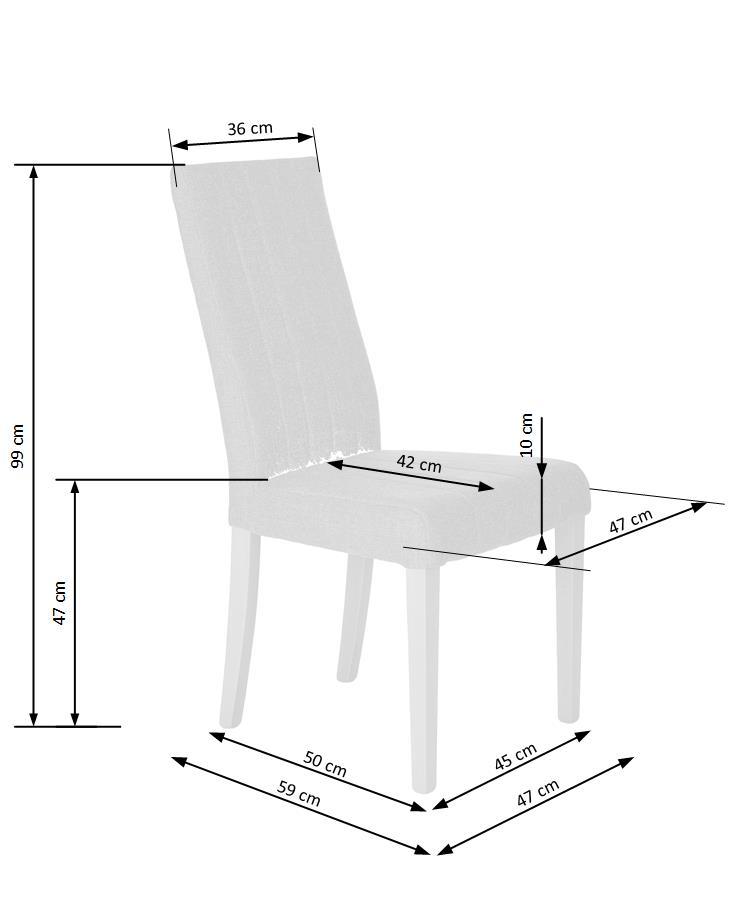 DIEGO stolička biela / tap. Inari 91