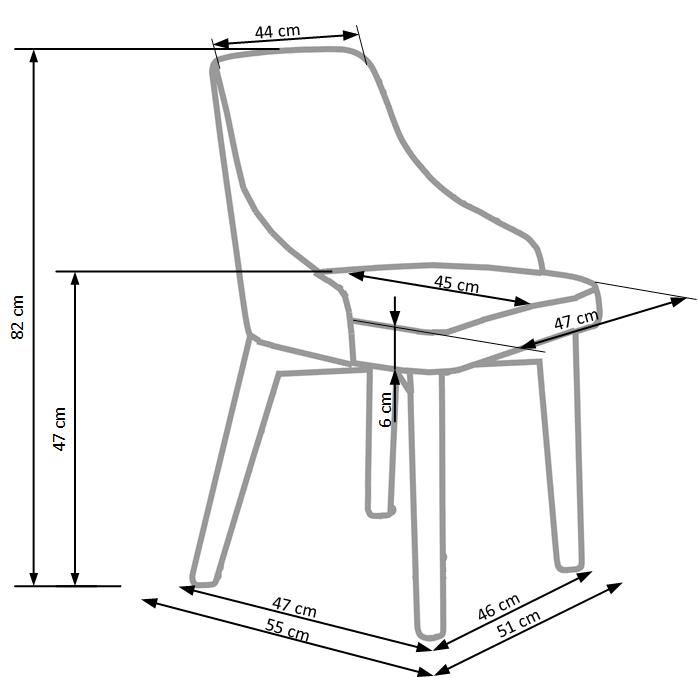 TOLEDO stolička dub sonoma / tap. Inari 91 - NA SKLADE!