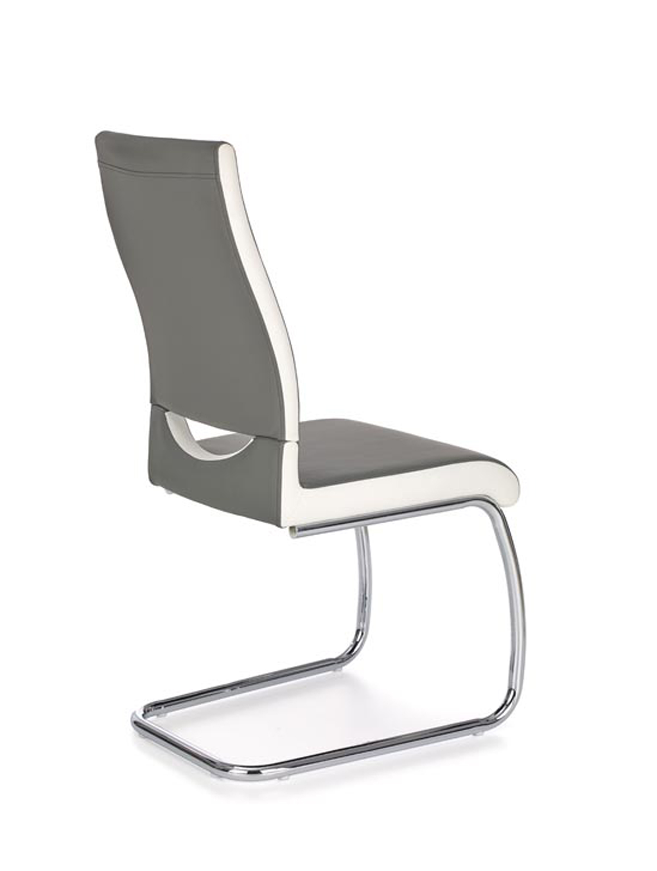 K259 jedálenská stolička, šedá / biela