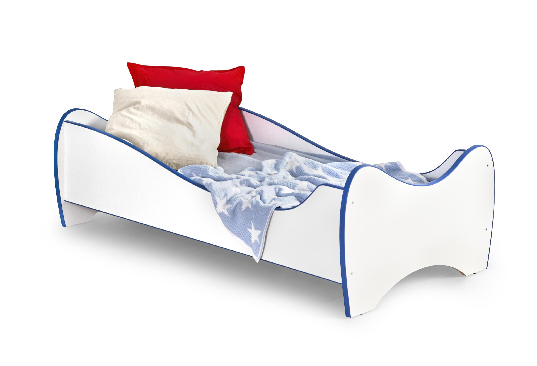 DUO posteľ, biela / modrá