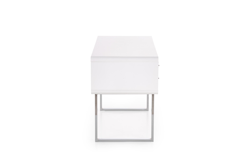 B30 PC stôl biely-chróm