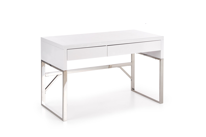 B32 PC stôl biely-chróm