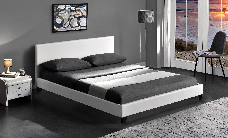 PAGO posteľ, biela