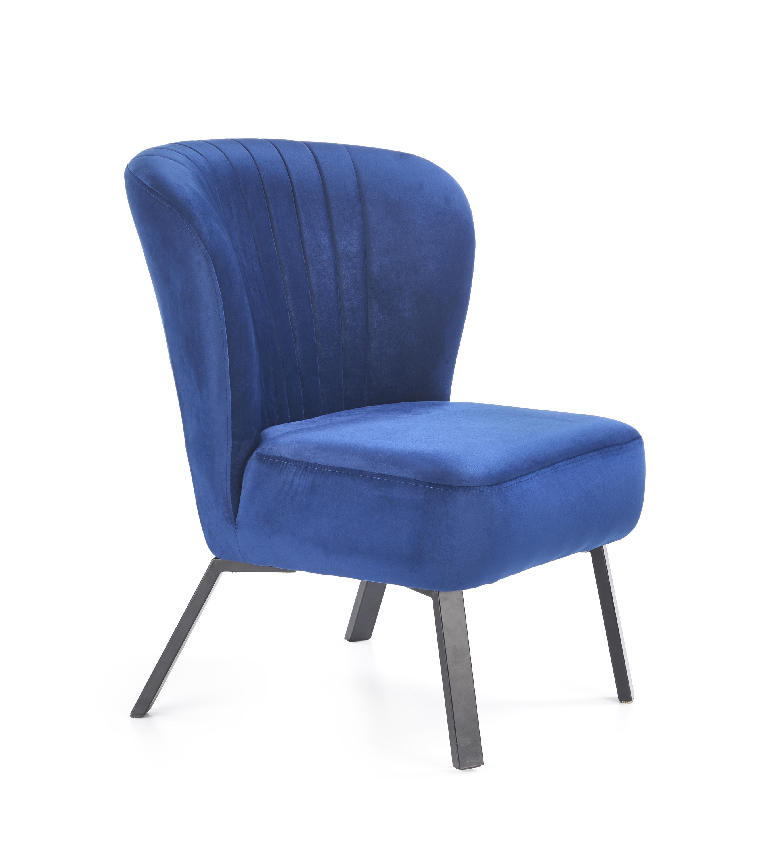 LANISTER relaxačné kreslo, navy modrá