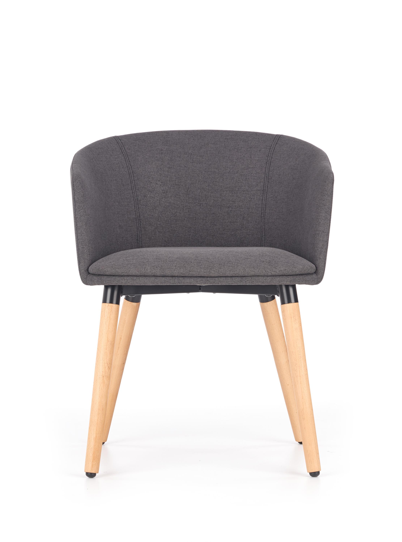 K266 jedálenská stolička, tmavo šedá