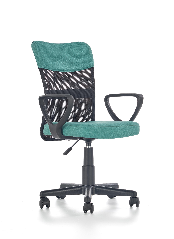 TIMMY kancelárska stolička, tyrkys / čierna