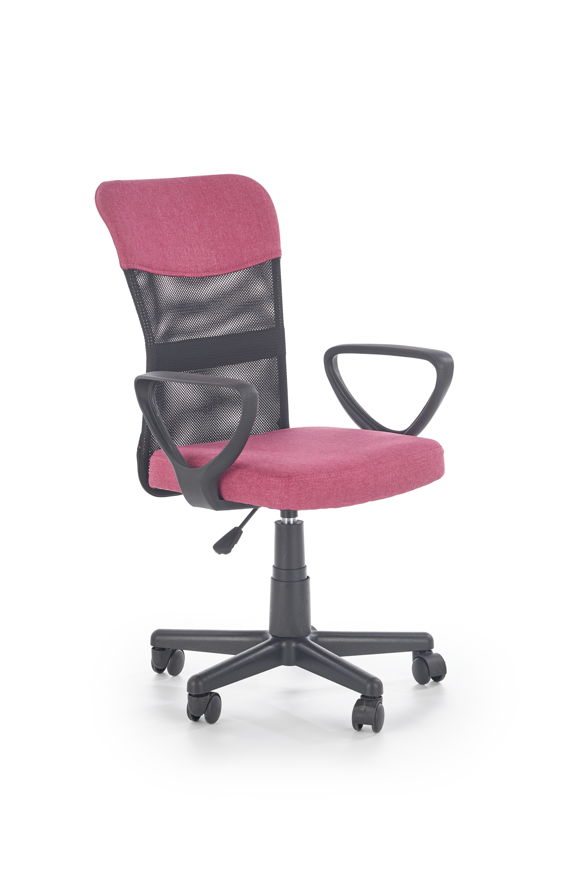 TIMMY kancelárska stolička, ružová / čierna