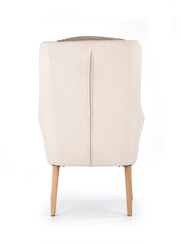 PURIO relaxačné kreslo, béžová / hnedá