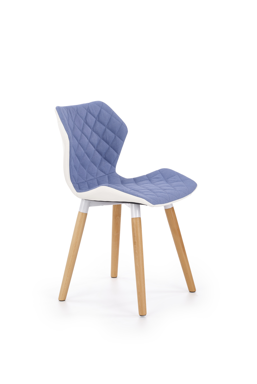 K277 jedálenská stolička, svetlo modrá / biela