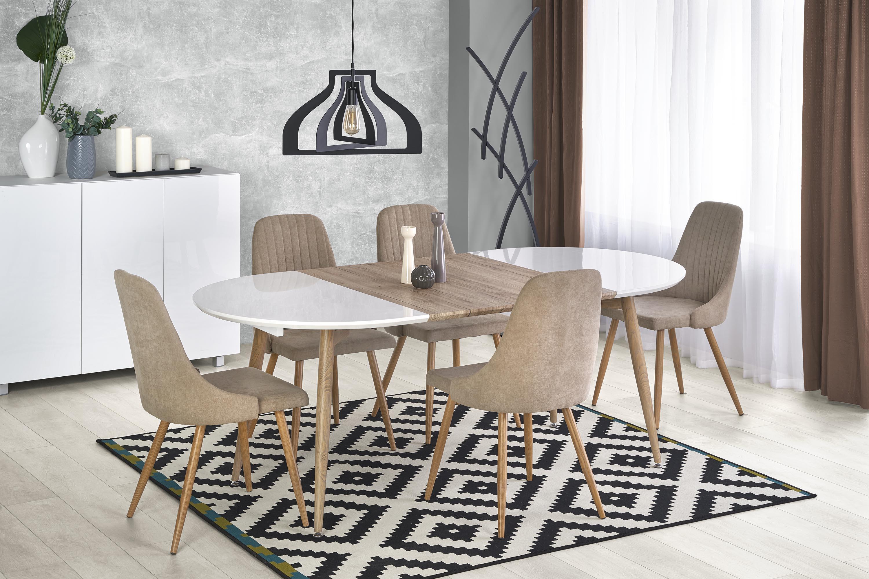 EDWARD rozkladací stôl, dub san remo