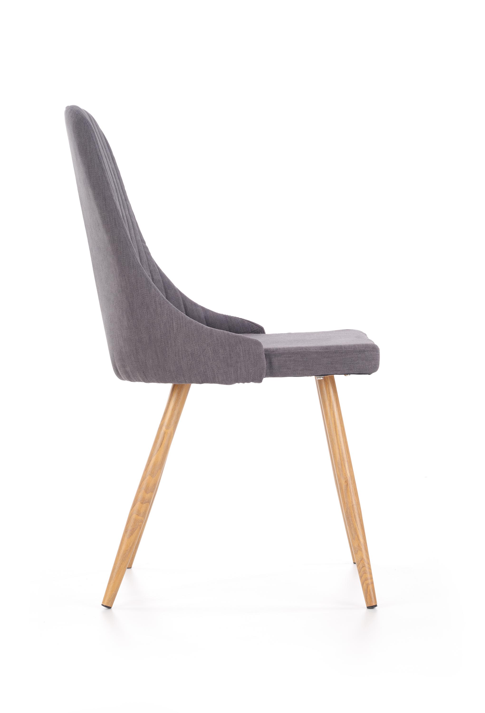 K285 jedálenská stolička, tmavo šedá