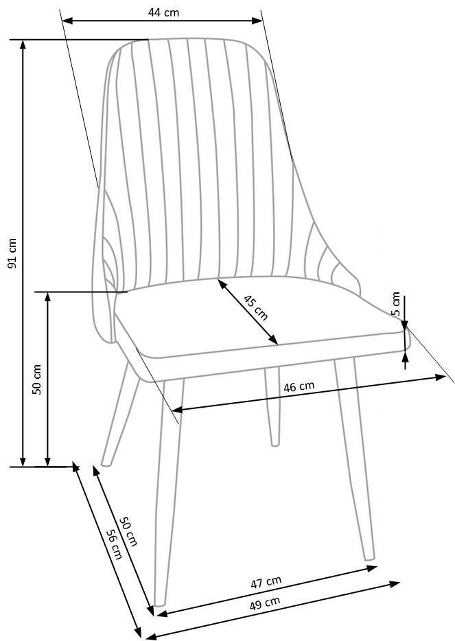 K285 jedálenská stolička, béžová