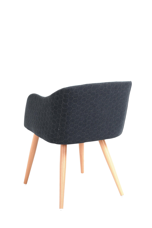 K288 jedálenská stolička, navy modrá / modrá