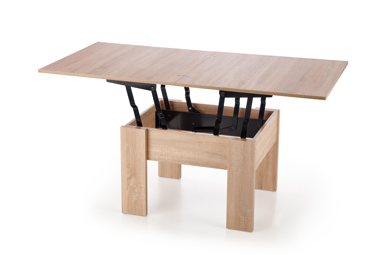 SERAFIN výškovo nastavitelný konferenčný stolík, dub sonoma