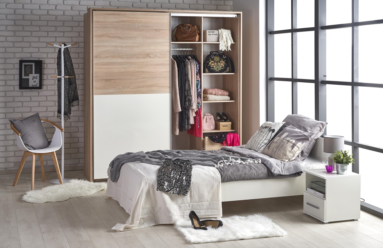 LIMA LOZ-90 posteľ, biela