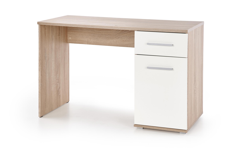 LIMA B-1 PC stôl, biela / dub sonoma