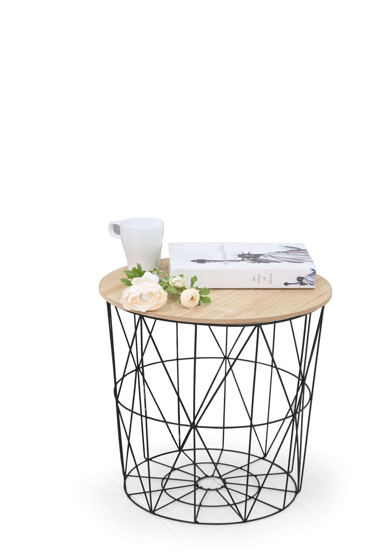 MARIFFA konferenčný stolík, natural / čierna