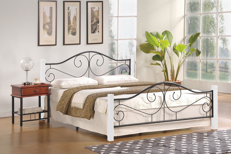 VIOLETTA 160 posteľ, biela / čierna