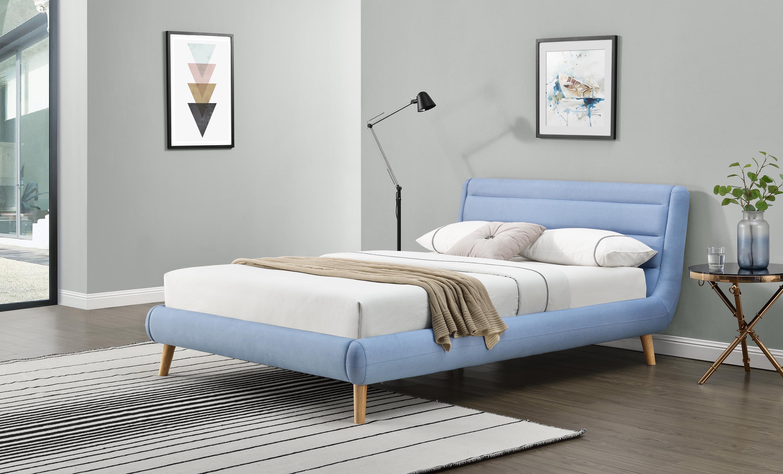 ELANDA 140 posteľ, modrá