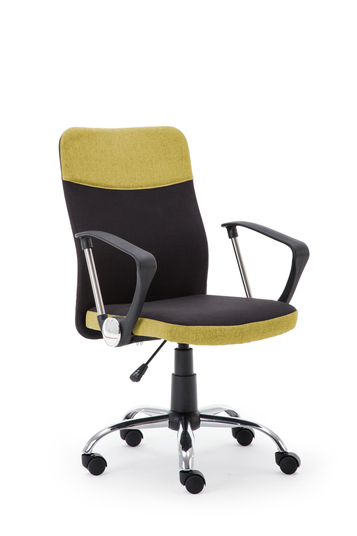 TOPIC kancelárska stolička, čierna / zelená