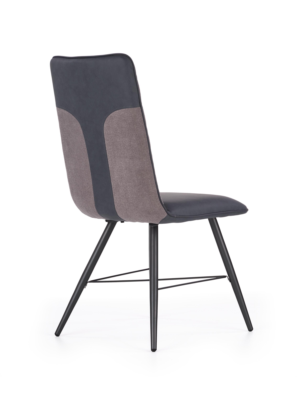 K289 jedálenská stolička, svetlo šedá / tmavo šedá