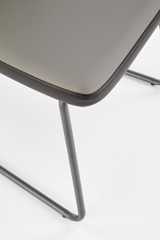 K300 jedálenská stolička, čierna / šedá