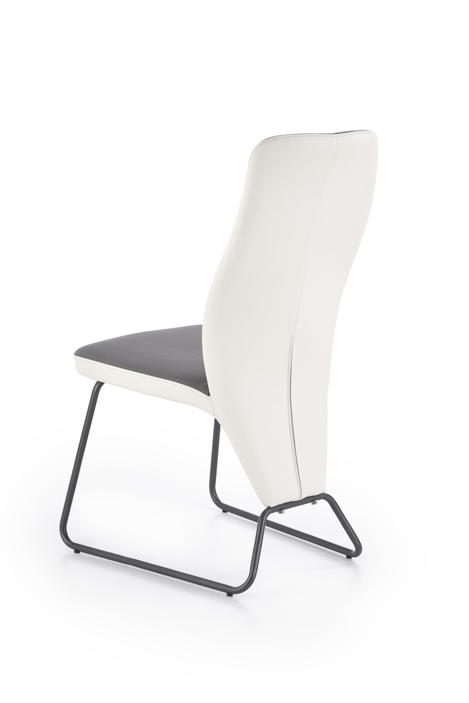 K300 jedálenská stolička,. biela / šedá
