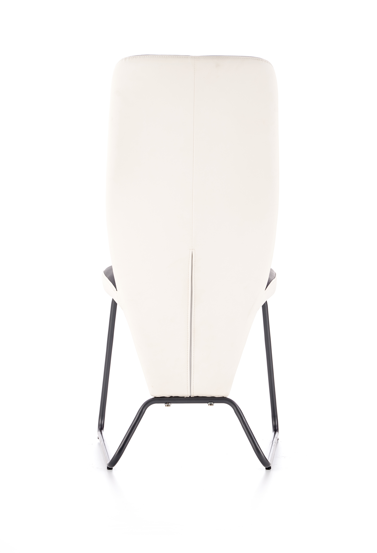 K300 jedálenská stolička, biela / čierna