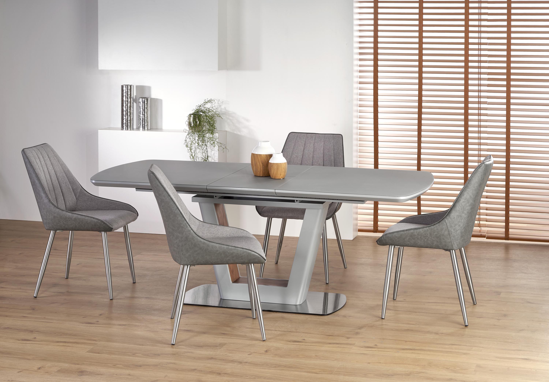 BILOTTI stôl svetlo šedá