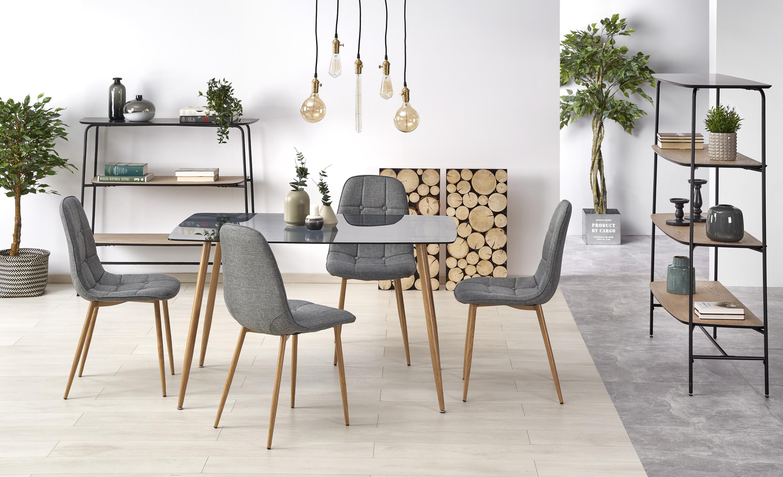 NEXT stôl dymová / medový dub