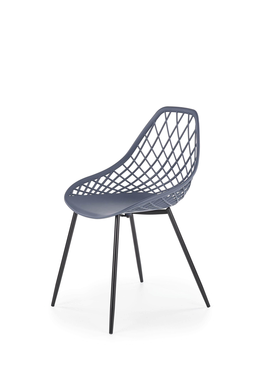 K330 jedálenská stolička, tmavo šedá